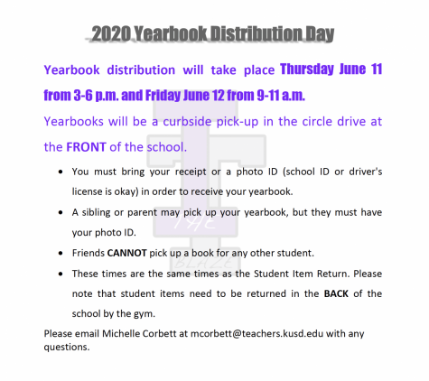 2020 Yearbook Distribution Day